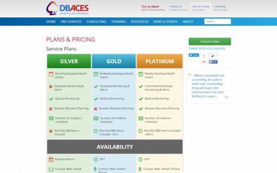 בניית אתרים | עיצוב אתרים | ג'ומלה - עיצוב ובניית אתר DBACES - dbaces-plans-pricing-