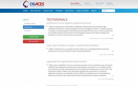 בניית אתרים | עיצוב אתרים | ג'ומלה - עיצוב ובניית אתר DBACES - dbaces-testimonials-