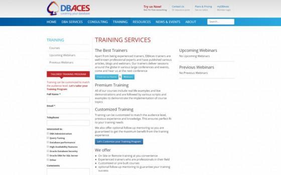 בניית אתרים | עיצוב אתרים | ג'ומלה - עיצוב ובניית אתר DBACES - dbaces-training-