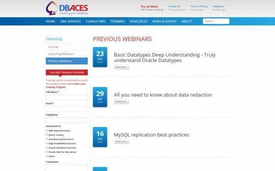 בניית אתרים | עיצוב אתרים | ג'ומלה - עיצוב ובניית אתר DBACES - dbaces-webinars-