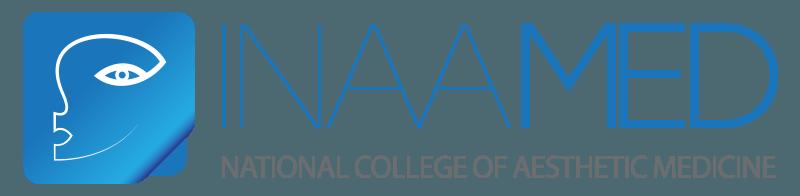 עיצוב לוגו - מתיחת פנים לוגו המכללה הלאומית לאסתטיקה רפואית - inaamed logo horizontal-