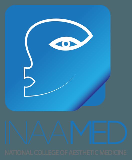 עיצוב לוגו - מתיחת פנים לוגו המכללה הלאומית לאסתטיקה רפואית - inaamed logo vertical-