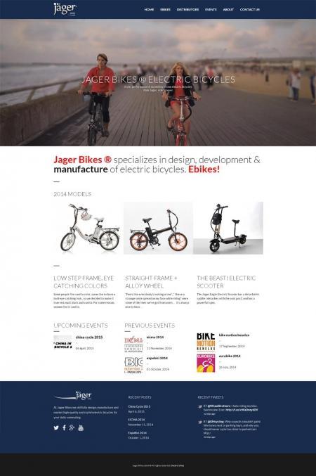 בניית אתרים | עיצוב אתרים | ג'ומלה - בניית אתר אופני ג'אגר - homepage-