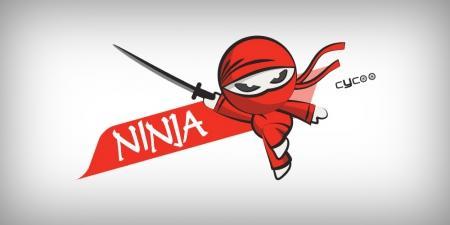 עיצוב לוגו -  עיצוב לוגו לאופניים חשמליות סייקו נינג'ה - cycoo-ninja-01-
